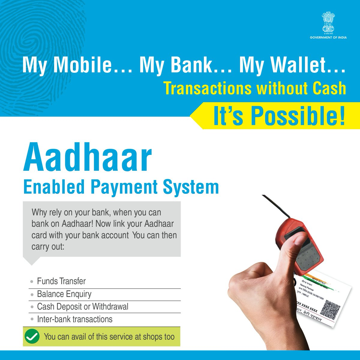 Aeps Aadhaar Enabled Payment System Growing Rapidly In