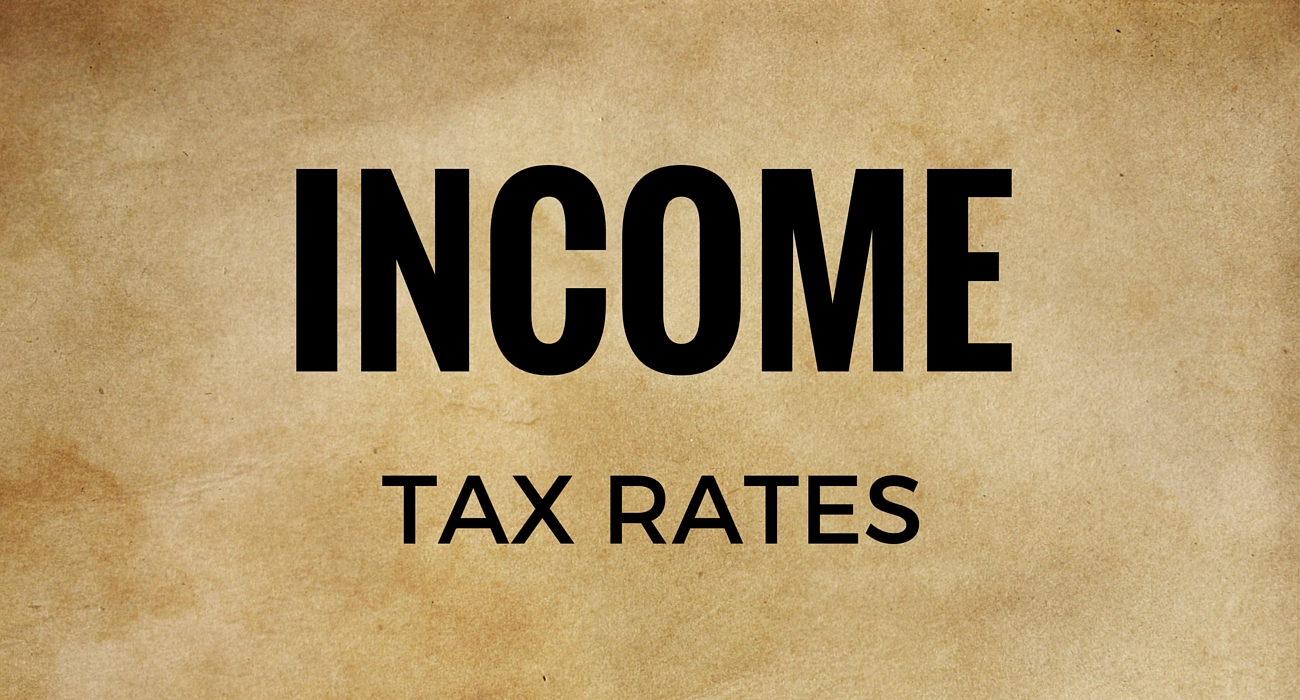 Income Tax: Rates of tax applicable in Year 2016-17