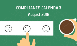 Due Dates Compliance Calendar for August 2018 in India